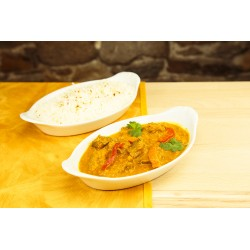 Agneau roghanjosh + riz (photo non contractuelle)