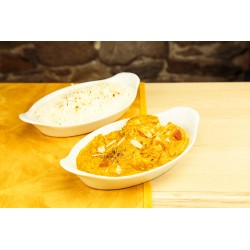 Poisson korma + riz (photo non contractuelle)